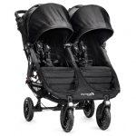 Baby Jogger City Mini GT Double Black - twin stroller, 4 wheels, black frame