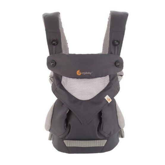 6b252b6c193 Front view of Ergobaby Four-Position Cool Air 360 Carrier Carbon Grey