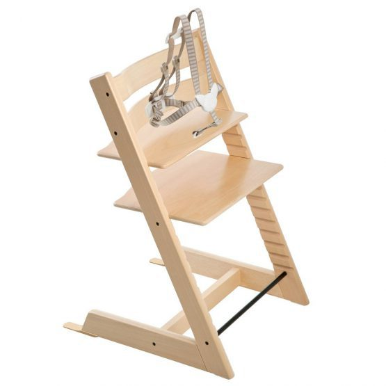 Natural Stokke® Tripp Trapp® Chair with 5-point safety harness