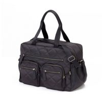 OiOi Quilted Diamond Black Carry All Nappy Bag