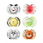 6x 0-6m Tommee Tippee Closer to Nature Fun Style Soother