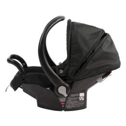 Side view of Babylove Snap n' Go Baby Capsule Black