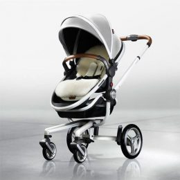 Forward facing pushchair Silver Cross Surf Pram Aston Martin Edition with sheepskin liner