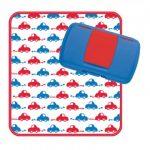 B.Box Diaper Wallet - Beep Beep - Red/Blue/White/Cars - wipes box & change mat