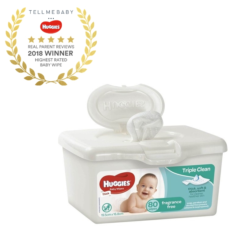 Huggies Fragrance Free Baby Wipes Tub