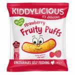 Strawberry Kiddylicious Fruity Puffs 10g pack 7m+