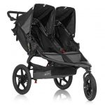 Black BOB Revolution Duallie PRO Stroller - twin stroller with 3 large wheels and shopping basket