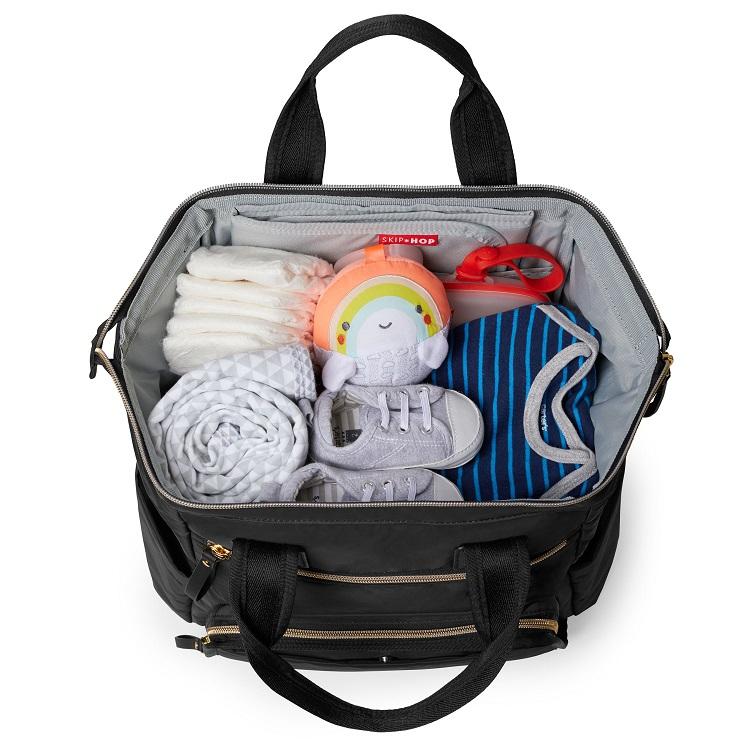 Skip Hop Main Frame Wide Open Diaper Backpack Black - Tell Me Baby