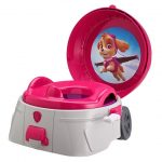 Nickelodeon Pink Skye Paw Patrol The First Years 3-in-1 Potty System with Pretend Flush