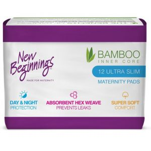 Pack of 12 New Beginnings Bamboo Maternity Pads