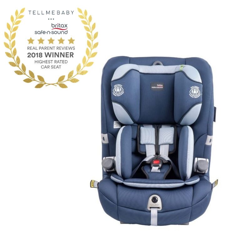 The top car seat 2018 is the Britax Safe-n-Sound Maxi Guard Pro Harnessed Car Seat in the Tell Me Baby 2018 Awards for best baby products