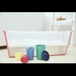 Stokke® Flexi Bath® Toys beside Stokke® Flexi Bath® in a bathroom