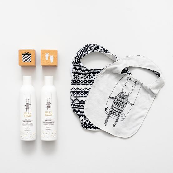Gilly Goat Skincare Products & Bibs
