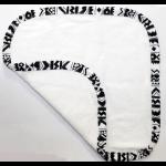 Gilly Goat Stripe Trim Washcloth
