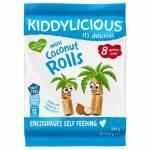 Kiddylicious Mini Coconut Rolls 54.4g pack 12m+