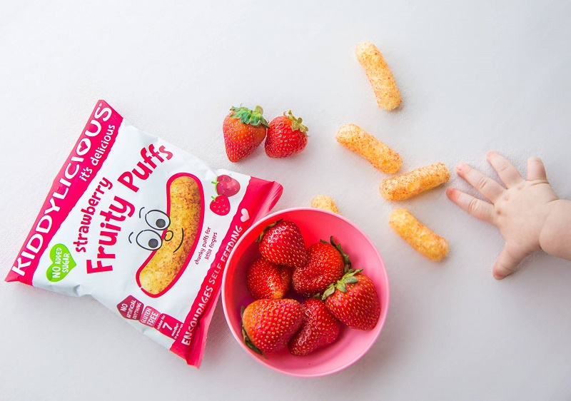 Kiddylicious Strawberry Puffs - Tell Me Baby